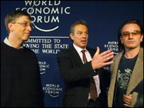 Bill Gates, Tony Blair and Bono