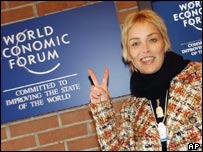 Sharon Stone at the World Economic Forum in Davos