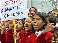 Protesting children in Patna, Bihar