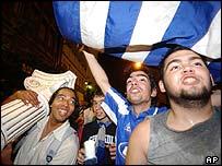 Fans celebrate Euro 2004