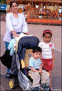 Navjeet Sidhu and her two children