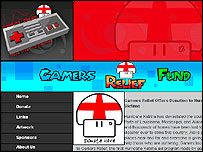 Image of the Gamers Relief website