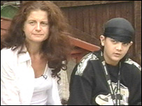Mandy Thurland and her son Curtis
