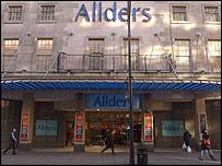 Allders' Oxford Street store