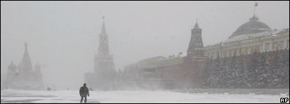 Nevada sobre la Plaza Roja, de Moscú