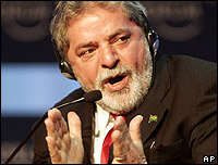 Luiz Inácio Lula da Silva habla en el Foro Económico Mundial en Davos, Suiza