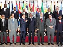 Caribbean leaders line up with Venezuela's President Hugo Chavez