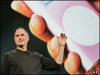 Apple boss Steve Jobs unveils the iPod Mini, AP