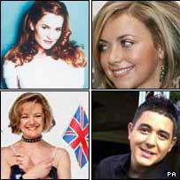 Gina G, Charlotte Church, Noel Sullivan and Nicki French
