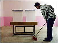 An Iraqi polling station