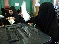Iraqi women vote in Iran
