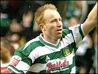 Paul Terry celebrates scoring for Yeovil