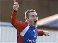Barry Wilson scored the first-ever SPL goal at Caledonian Stadium