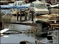 Zona inundada en Nueva Orleans