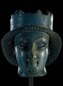 Lapis Lazuli head of a statue.