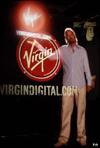 Sir Richard Branson launches Virgin's digital music download service