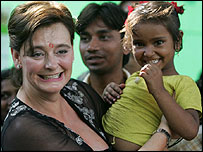 Cherie Blair at the Salaam Baalak Trust