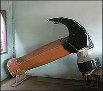 Ataúd en forma de martillo.