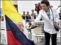 Princess Anne dedicates the Gipsy Moth IV