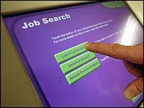 A job centre computer