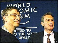 Bill Gates and Tony Blair