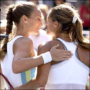 Mary Pierce (left) and Amelie Mauresmo