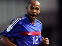 Thierry Henry hit the French winner at Lansdowne Road