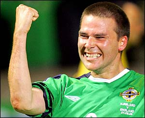 David Healy scores for Northern Ireland