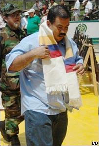 Diego Fernando Murillo, l�der paramilitar colombiano.