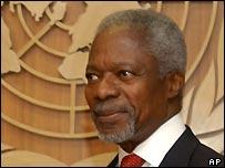 UN Secretary-General Kofi Annan. AP PhotoOsamu Honda