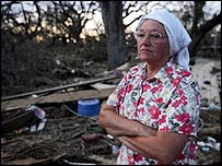 Mary Brooks, a resident of Pearlington, Mississippi, and a victim of Katrina