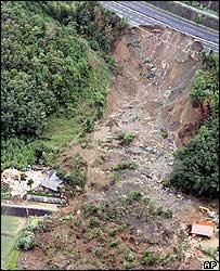 Landslide following Nabi