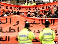 Protest at Wembley