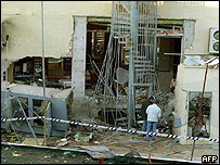Hotel Denia after bomb blast