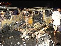 Scene of the Basra bombing