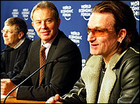 Bill Gates, Tony Blair, Bono