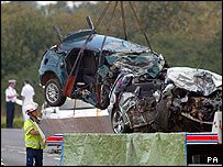 Hampshire crash wreckage