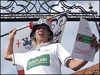 'Jimmy Saville' style cricket fan