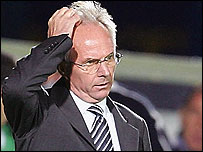 Sven-Goran Eriksson looks for answers on Wednesday night