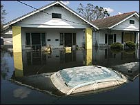 A flooded house
