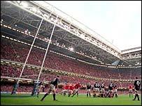 Wales game at the Millennium Stadium