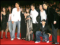 French Star Academy 4 participants together on 22 January 2005 at the NRJ music awards in Cannes