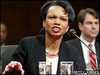 Condoleezza Rice testifies at her Senate confirmation hearing
