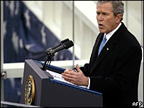 George W Bush delivers his second inaugural address