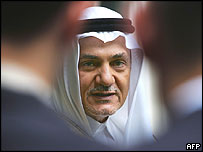 Outgoing ambassador Prince Turki al-Faisal