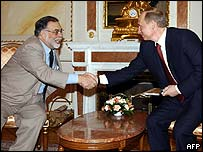 Francis Ford Coppola (left) with Vladimir Putin