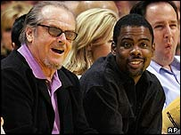 Jack Nicholson and Chris Rock