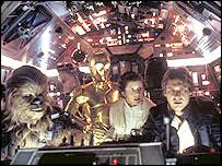 Escena de la Guerra de las Galaxias