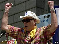 Hunter S Thompson in 2001