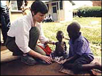Helen Boaden with young  Ugandan AIDS victims